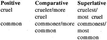 RBSE Class 8 English Grammar Change the Degree of the Adjective 12