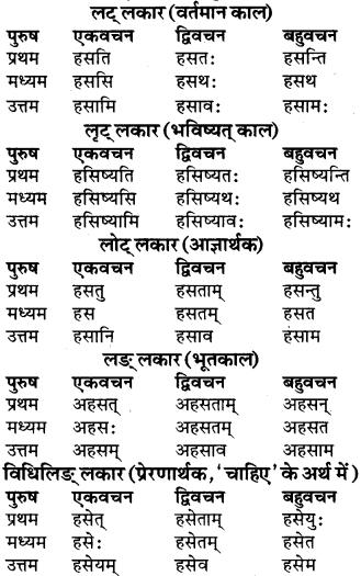 RBSE Class 9 Sanskrit व्याकरण रूप-प्रकरणम् 44
