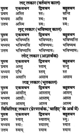 RBSE Class 9 Sanskrit व्याकरण रूप-प्रकरणम् 50