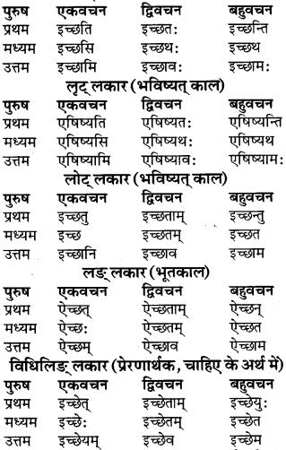 RBSE Class 9 Sanskrit व्याकरण रूप-प्रकरणम् 51