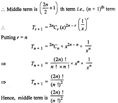 RBSE Solutions for Class 11 Maths Chapter 7 Binomial TheoremEx 7.2