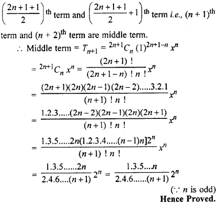 RBSE Solutions for Class 11 Maths Chapter 7 Binomial Theorem Ex 7.2