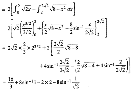 RBSE Solutions for Class 12 Maths Chapter 11समाकलन के अनुप्रयोग: क्षेत्रकलन Ex 11.2