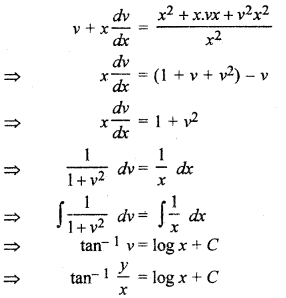 RBSE Solutions for Class 12 Maths Chapter 12 अवकल समीकरण Ex 12.6