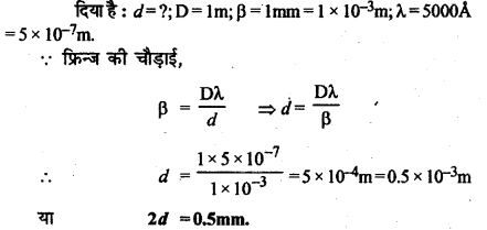 RBSE Solutions for Class 12 Physics Chapter 12 प्रकाश की प्रकृति Numeric Q 3