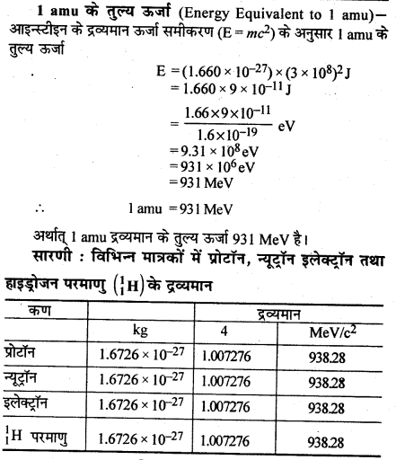 RBSE Solutions for Class 12 Physics Chapter 15 नाभिकीय भौतिकी ve Q 2.1