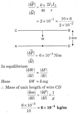 RBSE Solutions for Class 12 Physics Chapter 7 Magnetic Effects of Electric Current 54