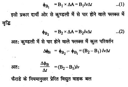 RBSE Solutions for Class 12 Physics Chapter 9 विद्युत चुम्बकीय प्रेरण Short Q 14.1