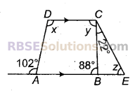 RBSE Solutions for Class 9 Maths Chapter 5 समतल ज्यामिती परिचय एवं रेखाएँ व कोण Additional Questions