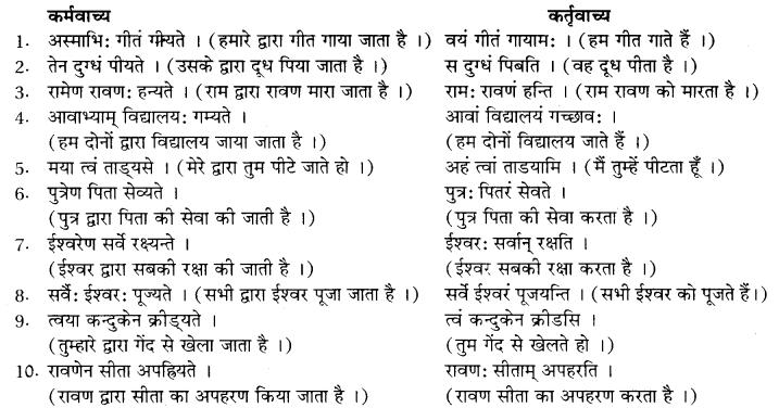 RBSE Class 10 Sanskrit व्याकरणम् वाच्य-परिवर्तनम् image 9