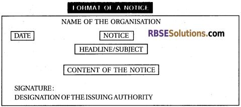 RBSE Class 12 English NoticeWriting img 1