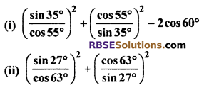 RBSE Solutions for Class 10 Maths Chapter 7 Trigonometric Identities Ex 7.2 6