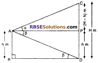 RBSE Solutions for Class 10 Maths Chapter 8 Height and Distance Additional Questions 40