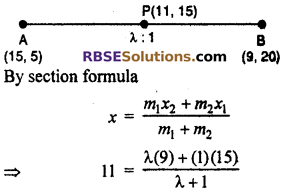 RBSE Solutions for Class 10 Maths Chapter 9 Co-ordinate Geometry Ex 9.2 9