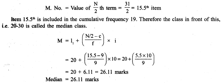 RBSE Solutions for Class 11 Economics Chapter 9 Median 14