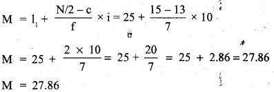 RBSE Solutions for Class 11 Economics Chapter 9 Median 55