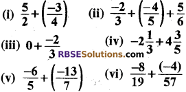 RBSE Solutions for Class 8 Maths Chapter 1 Rational Numbers Ex 1.1 1