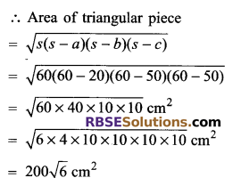 RBSE Solutions for Class 9 Maths Chapter 11 Area of Plane Figures Miscellaneous Exercise - 9