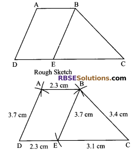 RBSE Solutions for Class 9 Maths Chapter 9 Quadrilaterals Miscellaneous Exercise 21