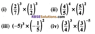 Rajasthan Board RBSE Class 8 Maths Chapter 3 Powers and Exponents Ex 3.1 1