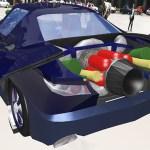 Spectre Spy car rear mounted gadgets
