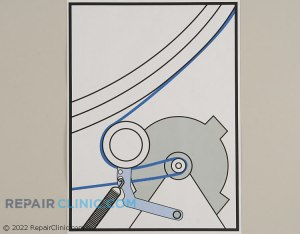 SOLVED: I need a diagram of dryer drum belt placement on