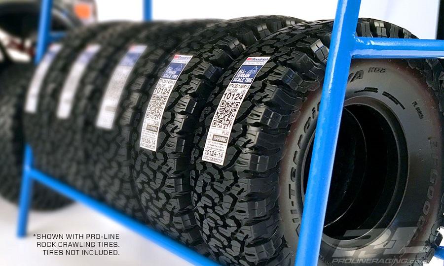 pro line scale tire rack rc car action