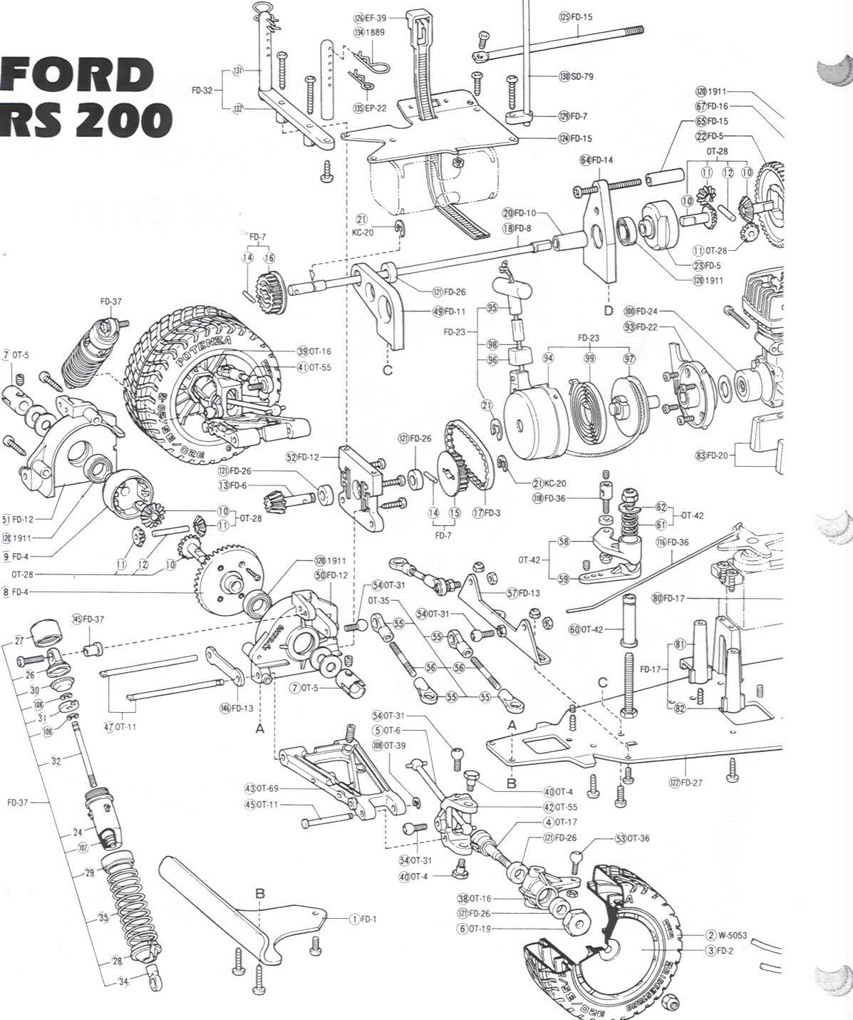 Kyosho Kyoc Ford Rs 200 W Os 10 Page