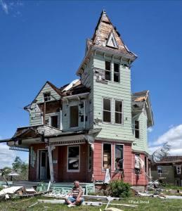 Tornado Home Destruction, Springfield, Mass. June, 2011. Photo by Paul Shoul