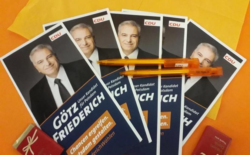 Ein neuer Kandidat für die Oberbürgermeisterwahl in Potsdam