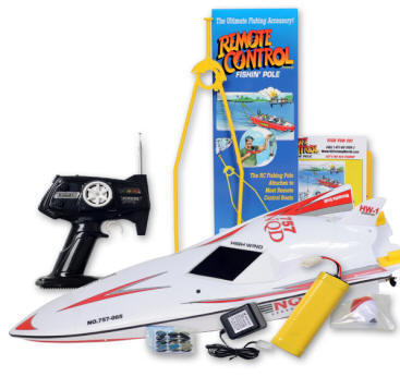 The RC Fishing Pole and Bass Pro Remote Controlled Boat for Fishing