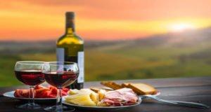 cooking food wine