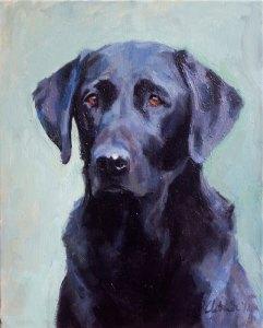 Animal Portrait - Dog. Oil on canvas