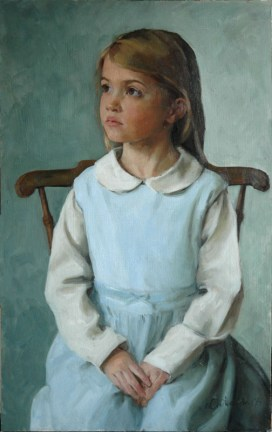 An example of an oil child portrait by Rosanna Chittenden