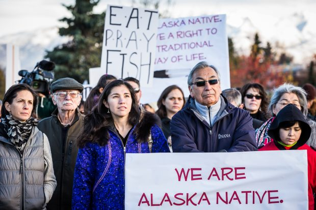 Image result for PHOTOS ALASKAN NATIVES RALLIES