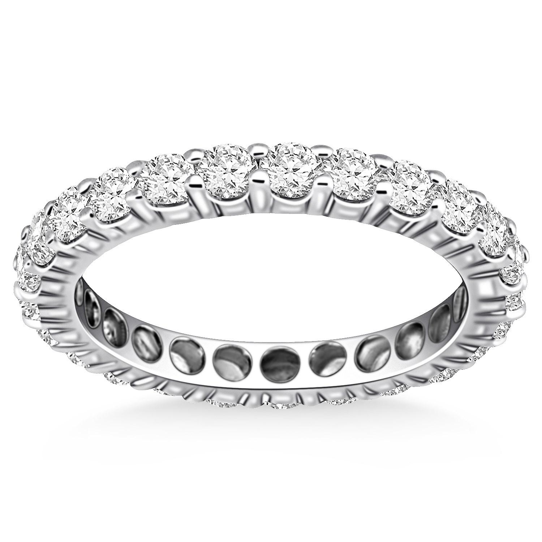 Timeless Round Cut Diamond Eternity Ring In 14k White Gold