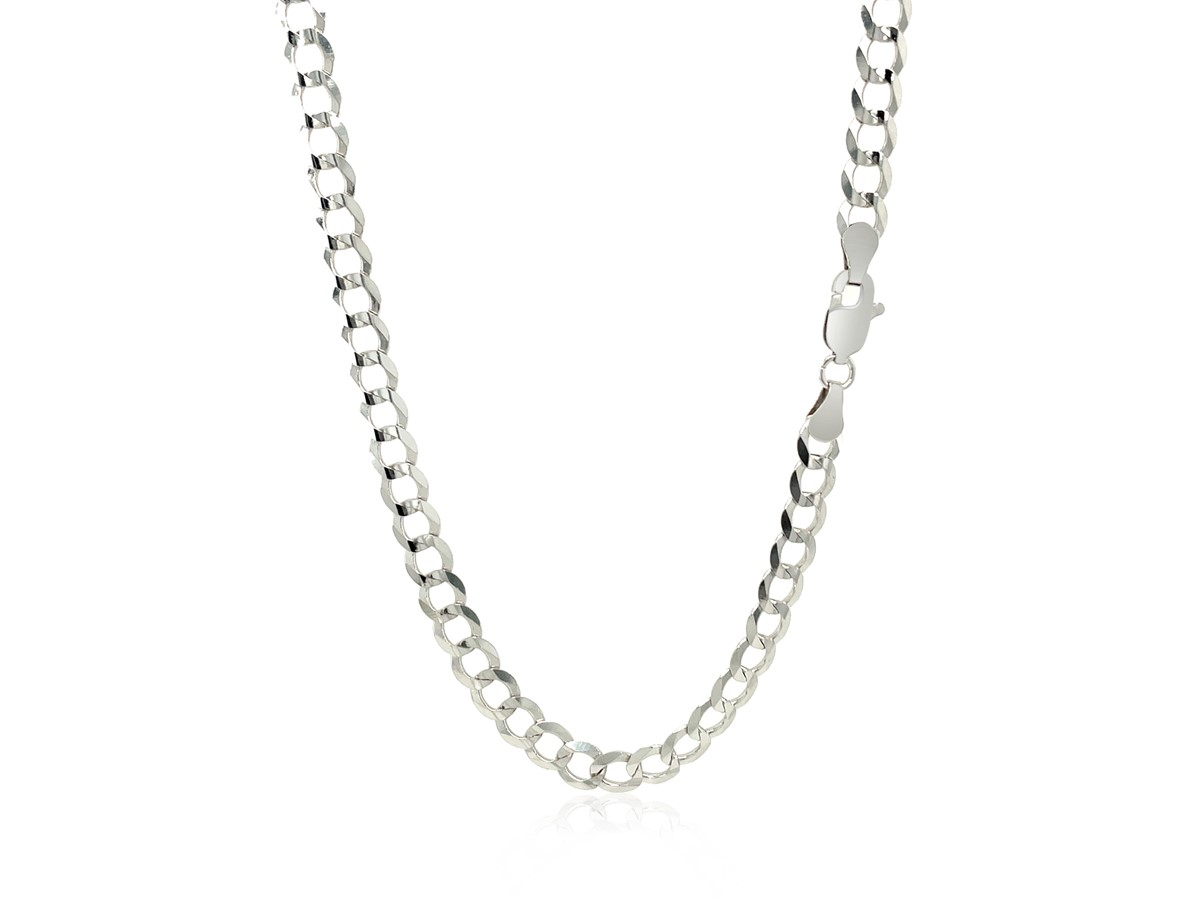 Solid Curb Chain In 14k White Gold 47mm Richard