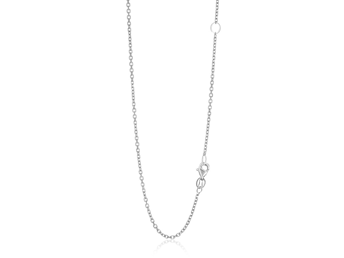 Adjustable Cable Chain In 14k White Gold 15mm Richard