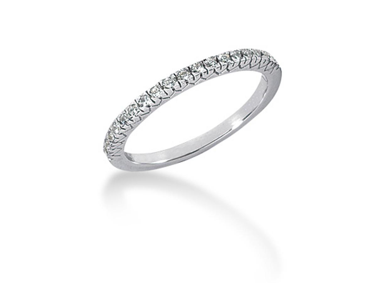 Fishtail V Pave Diamond Wedding Ring Band In 14k White