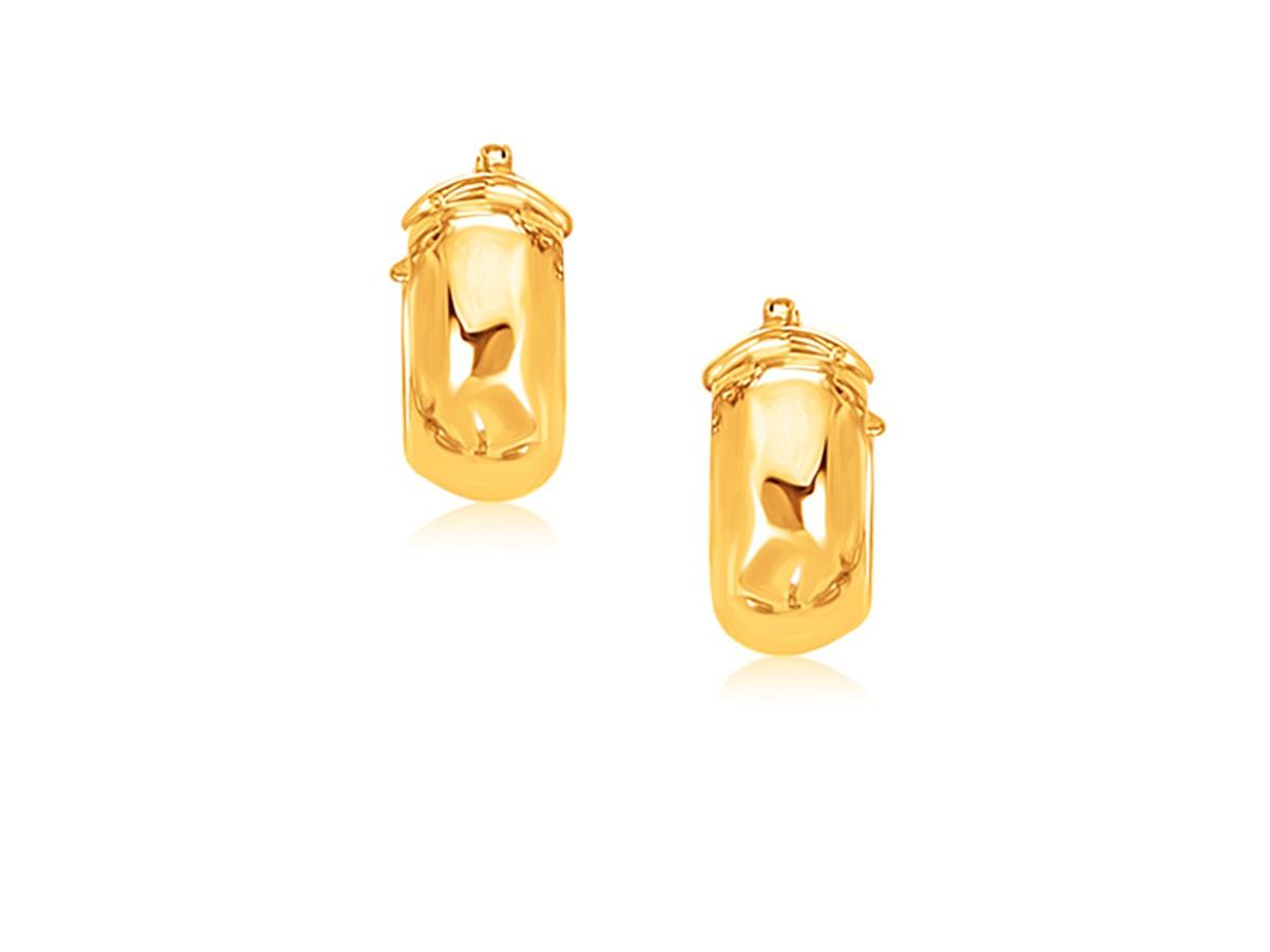 Small Wide Hoop Earrings In 14k Yellow Gold Richard