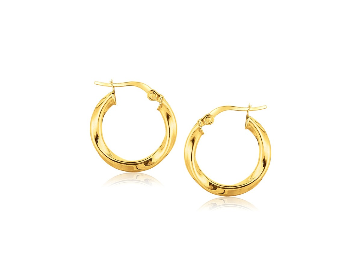 Classic Twist Hoop Earrings In 14K Yellow Gold 34 Inch
