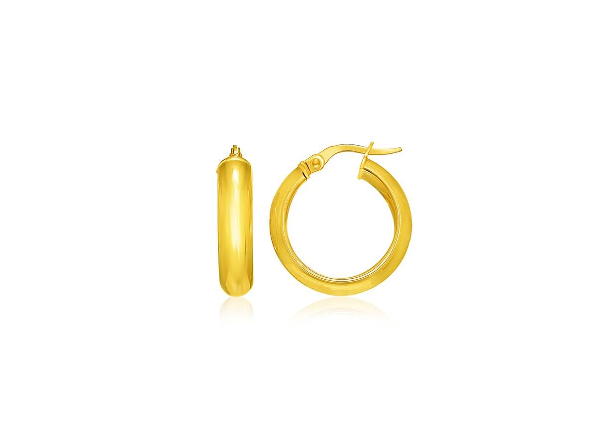 Classic Hoop Earrings In 14k Yellow Gold Richard Cannon