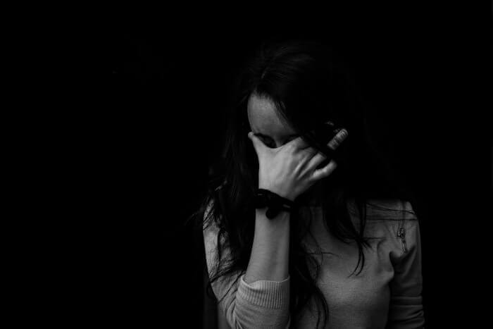 Woman experiencing anxiety