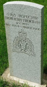Insp. F.H. French's headstone in the Depot Division cemetery