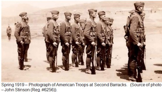 Photograph of American Troops in Vladivostok Siberia 1918-1919