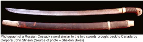 Photograph of Cossack sword