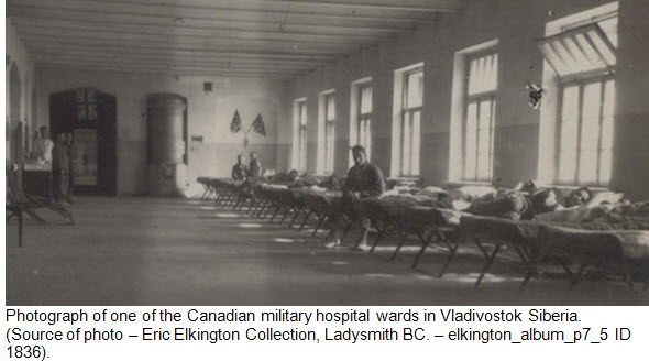 Photograph of Canadian Military Hospital in Vladivostok Siberia 1918-1919