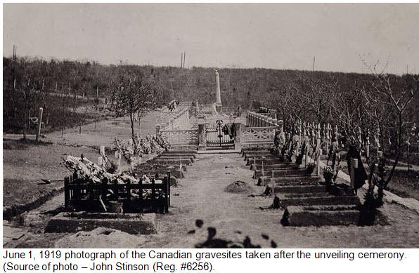 Photograph of 14 Canadian graves at Vladivostok Siberia - June 1, 1919
