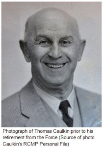 Photograph of Thomas Caulkin prior to his retirement from the Force
