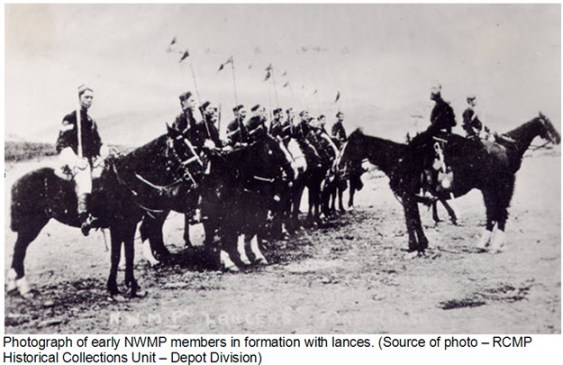 Early NWMP formation mounted horsemanship